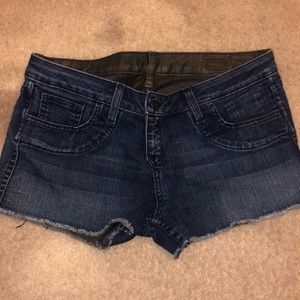 Reversible Jean Shorts - Size 26 Bleu Lab - NEW
